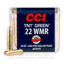Premium 22 WMR Ammo For Sale - 30 Grain HP Ammunition in Stock by CCI TNT Green - 50 Rounds