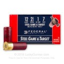 "Cheap 12 Gauge Ammo - 2-3/4"" Steel Shot Target shells - 1 oz - #7 - Federal Game and Target - 25 Rounds"
