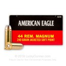 Cheap 44 Mag Ammo For Sale - 240 Grain SP Ammunition In Stock by Federal American Eagle - 50 Rounds