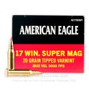 Bulk 17 WSM For Sale - 20 Grain Poly Tip Ammunition in Stock by Federal American Eagle - 500 Rounds