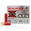 "Cheap 28 Gauge Ammo For Sale - 2 3/4"" 3/4 oz. #6 Shot Ammunition in Stock by Winchester Super-X - 25 Rounds"