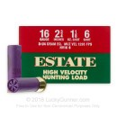 "Cheap 16 Gauge Ammo For Sale - 2-3/4"" 3-1/4 Dram 1-1/8 oz. #6 Shot Ammunition in Stock by Estate HV Hunting - 25 Rounds"