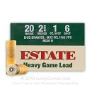 "Cheap 20 Gauge Ammo For Sale - 2-3/4"" 1 oz. #6 Shot Ammunition in Stock by Estate Heavy Game Load - 25 Rounds"