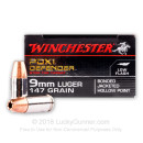 Bulk 9mm Ammo For Sale - 147 Grain JHP Ammunition in Stock by Winchester Bonded PDX1 Defender - 200 Rounds