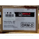 Cheap 223 Rem Ammo For Sale - 55 Grain FMJ Ammunition in Stock by Wolf Military Classic - 500 Rounds