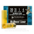 "Cheap 20 Gauge Ammo For Sale - 2-3/4"" 1 oz. #4 Shot Ammunition in Stock by Federal Game Shok Hi-Brass - 25 Rounds"