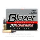 Cheap 22 LR Ammo For Sale - 40 gr LRN - CCI Blazer Ammunition In Stock - 50 Rounds
