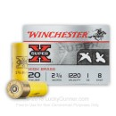"""Cheap 20 Gauge Ammo - Winchester High Brass Game Load 2-3/4"""" #8 Lead Shot - 25 Rounds"""