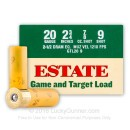 "Cheap 20 Gauge Ammo - 2-3/4"" Lead Shot shells - 7/8 oz - #9 - Estate Game and Target - 25 Rounds"