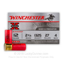 "Bulk 12 ga #4 Buckshot For Sale - 2-3/4"" #4 Buck Ammunition by Winchester - 250 Rounds"