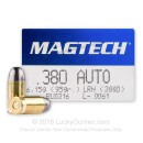 380 Auto Ammo In Stock - 95 gr LRN - 380 ACP Ammunition by Magtech For Sale - 50 Rounds