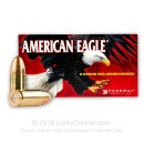 9mm Ammo For Sale - 115 Grain FMJ - Federal American Eagle Ammunition In Stock - 50 Rounds