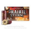 "Premium 12 Gauge Ammo For Sale - 2-3/4"" 1-1/4 oz. #4 Shot Ammunition in Stock by Federal Premium PRAIRIE STORM - 25 Rounds"