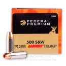 Premium 500 S&W Ammo For Sale - 275 Grain Barnes Expander Ammunition in Stock by Federal Vital-Shok - 20 Rounds