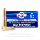 Cheap 22 Hornet Ammo For Sale - 45 gr SP Ammunition In Stock by Prvi Partizan - 50 Rounds