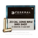 Cheap 22 LR  Ammo For Sale - 25 Grain #12 Shot Ammunition in Stock by Federal Game-Shok - 500 Rounds
