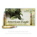 Cheap Ammo For Sale - 62 Grain FMJ Ammunition in Stock by Federal American Eagle - 20 Rounds