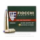 Cheap 300 AAC Blackout Ammo For Sale - 125 Grain SST Ammunition in Stock by Fiocchi Exrema - 25 Rounds