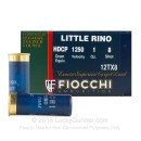"Cheap 12 Gauge Ammo For Sale - 2-3/4"" 1 oz. #8 Shot Ammunition in Stock by Fiocchi Little Rino - 25 Rounds"