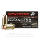 Premium 40 S&W Ammo For Sale - 140 Grain JFP Ammunition in Stock by Winchester Super Clean - 50 Rounds