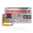 45 LC Ammo For Sale - 250 gr LFN - Winchester Cowboy Ammunition In Stock - 50 Rounds
