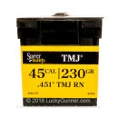 Bulk 45 ACP (.451) Bullets for Sale - 230 Grain TMJ Bullets in Stock by Speer - 300