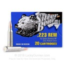 Cheap Silver Bear 223 Rem Ammo For Sale - 62 grain HP Ammunition In Stock - 20 Rounds