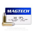 38 Special Ammo For Sale - 158 gr LRN Magtech Ammunition In Stock