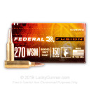 Cheap 270 Ammo For Sale - 150 Grain SP Ammunition in Stock by Federal Fusion - 20 Rounds