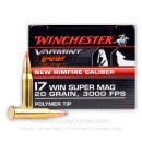 17 Win Super Mag Ammo For Sale - Winchester 20gr Polymer Tip - 50 Rounds