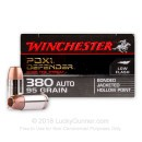 380 Auto Defense Ammo In Stock - 95 gr JHP - 380 ACP Ammunition by Winchester Supreme Elite For Sale - 20 Rounds