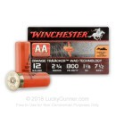 "Premium 12 Gauge Ammo For Sale - 2-3/4"" 1-1/8 oz. #7.5 Ammunition in Stock by Winchester AA TrAAcker Orange Traacker Wad - 25 Rounds"