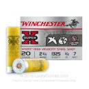 "Bulk 20 Gauge Ammo - 2-3/4"" Steel Shot Game and Target shells - 73/4 oz - #7 - Winchester Super X - 250 Rounds"