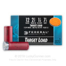 "Cheap 12 Gauge Ammo - 2-3/4"" Lead Shot Target shells - 1 1/8oz - 7-1/2 shot - Federal Top Gun - 25 Rounds"
