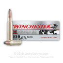 Premium 338 Winchester Magnum Ammo For Sale - 200 Grain Power Point Ammunition in Stock by Winchester Super-X - 20 Rounds