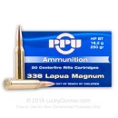 Premium 338 Lapua Magnum Remington Match Ammunition - 250 grain HP BT Prvi Partizan Ammunition - 20 Rounds