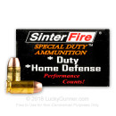 Premium 40 S&W Sinterfire Frangible Hollow-Point Ammo - 125 gr Frangible Hollow Point -  Sinterfire Ammunition - 20 Rounds