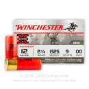"Cheap 12 Gauge Ammo - 2-3/4"" - 00 Buck - Game Shot Shells - Winchester Super-X - 15 Rounds"