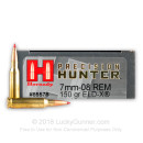 Premium 7mm-08 Rem Ammo For Sale - 150 Grain ELD-X Ammunition in Stock by Hornady Precision Hunter - 20 Rounds