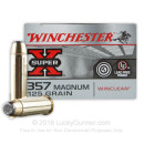 357 Mag Ammo For Sale - 125 gr JSP Winchester Winclean Ammunition In Stock