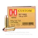 357 Magnum Ammo For Sale - 158 gr JHP XTP Hornady Ammunition In Stock - 25 Rounds
