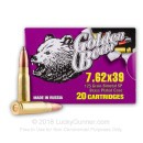 7.62x39 Ammo For Sale - 125 gr SP Ammunition by Golden Bear In Stock - 20 Rounds