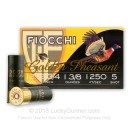 "Bulk 12 ga 2-3/4"" Golden Pheasant Fiocchi Shells For Sale - 2-3/4"" Nickel Plated Lead #5 Turkey Loads by Fiocchi - 250 Rounds"