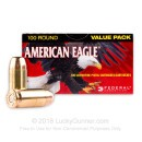 40 S&W Ammo - 180 Grain FMJ - Federal American Eagle 40 cal Ammunition - 100 Rounds