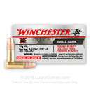 Cheap 22 LR Ammo For Sale - 40 gr Copper Plated Hollow Point Ammunition - Winchester Super-X - 50 Rounds