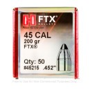 "Bulk 460 S&W Magnum (.452"") Bullets for Sale - 200 Grain FTX Bullets in Stock by Hornady - 50"