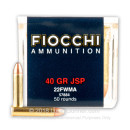 22 WMR Ammo For Sale - 40 gr JSP - Fiocchi 22 Magnum Rimfire Ammunition In Stock - 50 Rounds