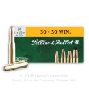 Bulk 30-30 150 gr SP Sellier & Bellot Ammo Online and In Stock - 250 Rounds