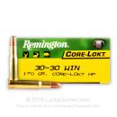 30-30 Ammo For Sale - 170 gr HP - Remington Core-Lokt Ammo Online - 20 Rounds