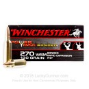 Premium 270 WSM Ammo For Sale - 130 Grain PHP Ammunition in Stock by Winchester Power Max Bonded - 20 Rounds